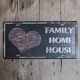 housing homes Australia - Family Love Home House vintage embossed metal tin signs garage car plate licence number plate painting plaque picture 15x30cm