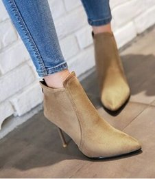 Hot Pink High Heel Ankle Boots Canada - Wholesale New Arrival Hot Sale Specials Super Influx Warm Noble Sexy Winter Martin Nubuck Suede Canister Party Heels Ankle Boots EU34-43