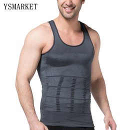 Veste Masculine Pas Cher-Hot Mens Body Shaper Vest Cinquier Cincher et Tummy Control Slimming Belly Shaper Underwear 2017 New Male Casual Shapewear S107