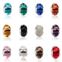 Vente en gros Perles DHL pour la fabrication de bijoux Convient Bracelets Pandora Argent Perles En Cristal Charmes Pour Diy Européen Collier Bijoux Accessoires