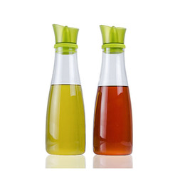 $enCountryForm.capitalKeyWord UK - Oil and Vinegar Dispenser Set with Slant Silicone Pourer Creative Leakproof Borosilicate Glass Olive Oil Dispensers Cruets 17oz