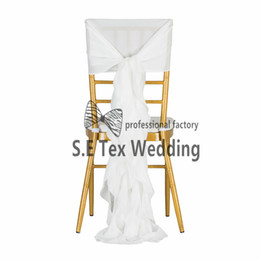 wedding chair cover prices UK - Cheap Price Chiffon Chiavari Chair Cover \ Wickle Chair Hood Sash For Event And Wedding Decoration