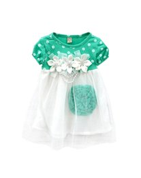 Barato Vestido Grossista De Polca Tutu-Atacado - 2016 Cute Summer Children Clothing Vestido de baile Kids Baby Girls Polka Dots Tutu Dresses 4 cores New Arrival RE2