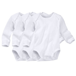 Coton À Manches Longues En Coton Pas Cher-Baby Boys Girls Rompers Body d'automne Newborn Long Sleeve Romper Onesies Ensembles de vêtements en coton Triangle Bodysuit Tout format prêt à être expédié