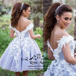 $enCountryForm.capitalKeyWord Australia - Arabic Design Short Cheap Prom Dresses 3D-Floral 2020 A Line Off Shoulder Plus Size Sexy Back Dubai Yousef Aljasmi Homecoming Party Gown