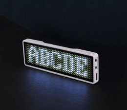 Discount card programmable - Newest Sign Scrolling advertising business card show digital display tag LED name badge Rechargeable + Programmable, Blu