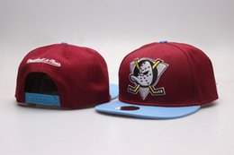 Chinese  2017 NHL Mighty Hockey Snapback Hats Anaheim Ducks bone cap Flat Fashion nhl Hats sports Cheap mens & women baseball caps manufacturers