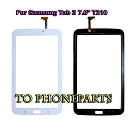 Galaxy Tab Digitizer Replacement NZ - 20Pcs Touch Screen Digitizer Glass Panel For Samsung Galaxy Tab 3 7.0 T210 T211 White & Black Repair Replacement Parts