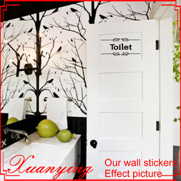 Bathroom Wall Sticker Quotes Australia - Vintage Wall Sticker Bathroom Decor Toilet Door Vinyl Decal Transfer Vintage Decoration Quote Wall Art