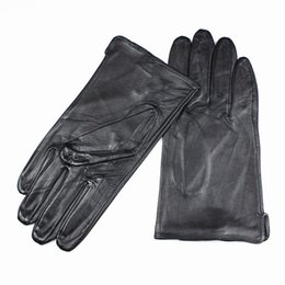 $enCountryForm.capitalKeyWord Australia - Wholesale- 2017 Eldiven Leather Gloves Men's High-grade Quality Imported Sheepskin Without Lining Straight Style Car Spring And Autumn