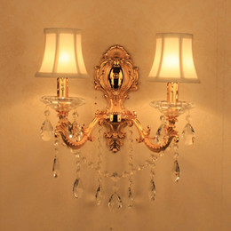 $enCountryForm.capitalKeyWord Canada - Bathroom light mirror Lamparas de pared copper Wall light E14 candle crystal wall sconce light for home lighting Led bedroom wall lamp