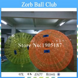 cheap wholesale inflatables UK - Free Shipping 2.5m PVC Factory direct sale cheap human zorbs durable PVC Inflatable Human Hamster Bumper Ball for Riding