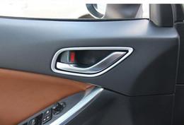 interior chrome trim strips 2019 - Chrome Inside Door Handle Trim Strips Frame For MAZDA CX-5 CX5 2012 2013 Door Knob Interior Mouldings 4 pcs lot Car Styl