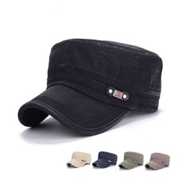 cc28e047028 Quality Designer Washed Denim Military Caps Adjustable Strapback For Adults  Mens Womens Cotton Army Hats Sports Man Woman Sun Visor Sale