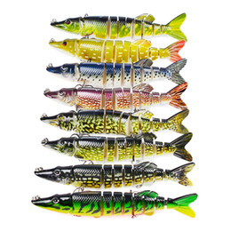 Branded lures online shopping - Proberos Brand Fishing Lure Multi section Bait cm g Plastic Bionic Bait Sections Fake Lure Bait Colors
