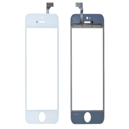 Iphone Touch Screen Digitizer Glass Canada - 80PCS Touch Panel Screen Digitizer Glass Lens for iPhone 5 5G 5s 5c Balck and White Replacement Free Shipping