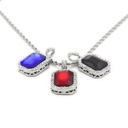 $enCountryForm.capitalKeyWord Canada - Mini octagonal set auger small pendant mini ruby boutique hip-hop men's diamond necklace Chokers Necklace Chokers Necklaces