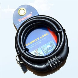 Bicycle Combination Locks Canada - Portable Bike Coded Lock Bicycle Lock Anti-theft Steel Wire Bike Accessories Safe 4 Digital Resettable Combination Cable Lock