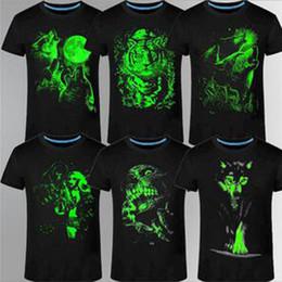 t shirt flashing light 2019 - Wholesale- 2017 New 3D t-shirt men Leisure Fluorescent Personalized Short-sleeve Luminous Tee Shirt Summer Tops Men T-sh