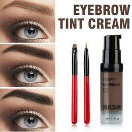 Sourcils Font Un Stylo Pas Cher-Color Salon Eyebrow Pomade 7ml Makeup Tint Brush Kit Brown Henna Eye Brow Gel Cream Maquillage Set de stylo à peinture Enhancer Wax Cosmetic