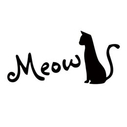 $enCountryForm.capitalKeyWord Canada - Hot Sale For Cat Silhouette Meow Cat Lover Pet Car Decal Sticker Personality Funny Car Styling Graphics Decor
