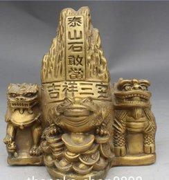 block people Canada - Chinois FengShui BiXie Argent Richesse Foo Fu Chien Porte Lion Crapaud Statue