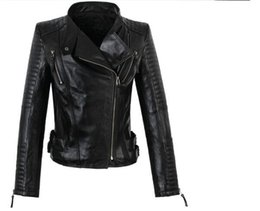 Chinese  Crazy promotion european for the women's high quality sheepskin motorcycle jacket 100% genuine leather clothing coat fashion red S - 3XL manufacturers