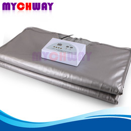 Wholesale Far Infrared Slimming Sauna Blanket Weight Loss Body Detox Home Body Lymph Drainage FIR Zones