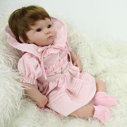 "$enCountryForm.capitalKeyWord Australia - Soft Silicone 18"" Reborn Baby Doll Fashion Realistic Baby Alive Dolls Handmade Toys For Children Birthday Gift"