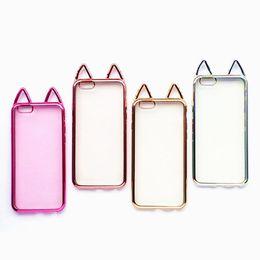 cebb714855 For Iphone X XS 8 7 Case Kawaii 3D Electroplated Cat Ear Gold Electroplating  Cover for Iphone7 Plus 6 S 6s Plus 6plus Phone Cases