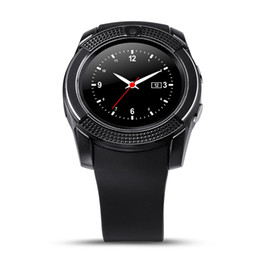 $enCountryForm.capitalKeyWord Australia - V8 Smart Watch Bluetooth Smartwatch Phone Supports SIM with 0.3M Camera Sports Wrist Watches for Android iOS Fitness Tracker DZ09 GT08 Apple