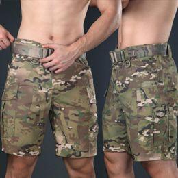 Shorts tactiques Camouflage Cargo Pantalons courts Chasse Vêtements Vêtements de survie en Solde
