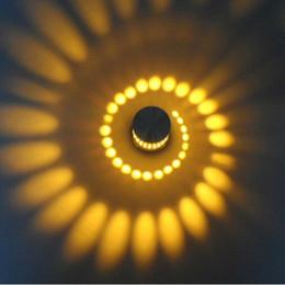 Modern LED Wall Light Aluminum Hollow Cylinder 3W Indoor Outdoor Home  Lighting AC 85 265V