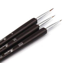 dot nails 2018 - Wholesale- New Women Fashion 3Pcs Dotting Painting Drawing UV Gel Liner Polish Brush Tool Nail Art Pen Tools Kit Beauty