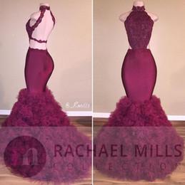 22b3e6dc46a7 Vestidos longos festa online shopping - Sexy Burgundy Prom Dresses Vestidos  Longos De Festa Noite Aplliques