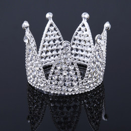 Diamond Ball Hair Canada - Full Circle Tiara Crown Wedding Accessories Rhinestone Crystal Round Diadem Tiaras and Crowns Bridal Hair Jewelry Pageant Prom Princess Ball