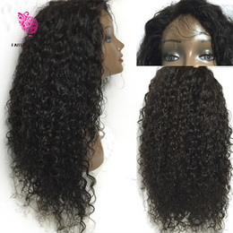 $enCountryForm.capitalKeyWord NZ - 7A Mongolian Kinky Curly Wig Virgin Human Hair Kinky Curly Full Lace Wig Glueless Human Hair Lace Front Wigs With Baby Hair