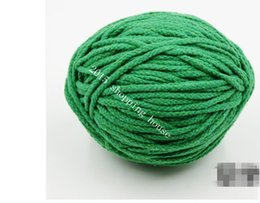 Discount korean cotton fabric diy - 012 Sewing accessories 5MM eight color cotton rope drawstring pants pocket DIY hand woven cotton rope Pocket Cap