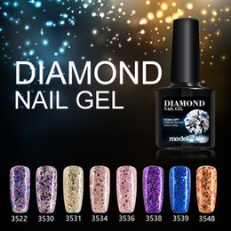 Glitter red Gel polishes online shopping - Modelones Shiny Diamond Nail Gel Lacquer Colorful Glitter Gel Polish UV Soak Off Gel Nail Polish Need UV Led Lamp Gelpolish