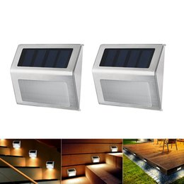 Solar Step Deck Lights LED Light Wall Mount Garden Path Lamp Stair Lights  Outdoor Yard Garden Pathway Waterproof Light OOA3133 Affordable Solar Stair  Step ...