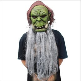 $enCountryForm.capitalKeyWord NZ - Top Grade 100% Latex Orcs Guldan Masks Game Famous Movie Party Cosplay Prop Adult Scary Latex Mask for Halloween Cosplay