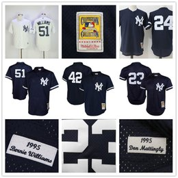 cba83fff8 ... baseball jerseys cooperstown new york yankees 23 don mattingly 51 bernie  williams 42