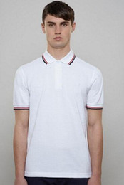 England polo shirt online shopping - London Men Classic Fred Polo Shirt England perry Cotton Short Sleeve NEW Arrived Summer Tennis Cotton Polos White Black S XXL