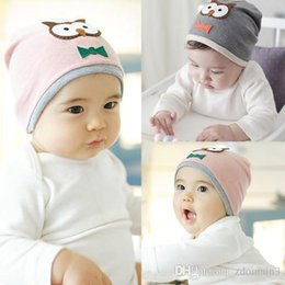 Wholesale 2017 New High Top Baby Boys Girls Hat Cotton Blends Caps Newborn Infant Baby Hat Owl Print