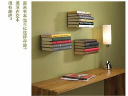 wall book shelf modern stainless metal book shelf wall invisible bookshelf for home decoration floating