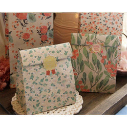 Wrapping Paper Gift Sets Canada - New Folding Paper Flower Gift Bag Floral Gift Bag Cute Candy Bag for Wedding and Party and Birthday 4pcs set Multi-color