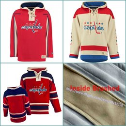 Men s YOUTH Old Time Hockey Hoodies Jerseys Washington Capitals Blank  Custom Jersey Hoodie Authentic Winter Sweatshirts Red Cream Shirts 087966dda