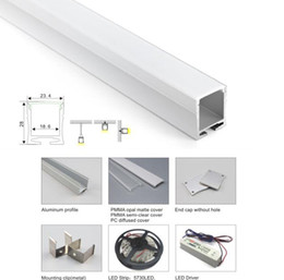 24v Pendant Australia - 10 X 1M sets lot cover line aluminum profile for led light and deep U ceiling profile for recessed wall or pendant lamps