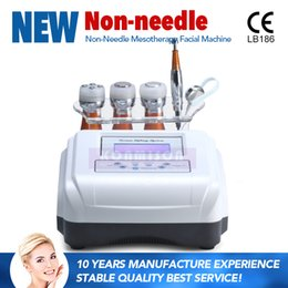 mesotherapy microcurrent machine Canada - No Needle Mesotherapy Machine Skin Rejuvenation Face Lifting Beauty Facial Machine With RF Microcurrent Cooling 4 In 1 For Beauty Salon Use