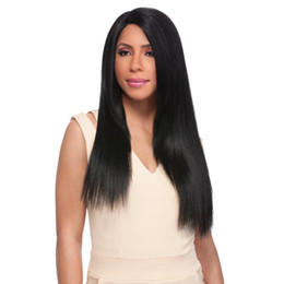 More Bangs NZ - Top Quality 150% Density Brazilian Silky Straight Full Lace Wig Unprocessed Long Straight Virgin Human Hair 100% #1 With Bangs kabell WIGS